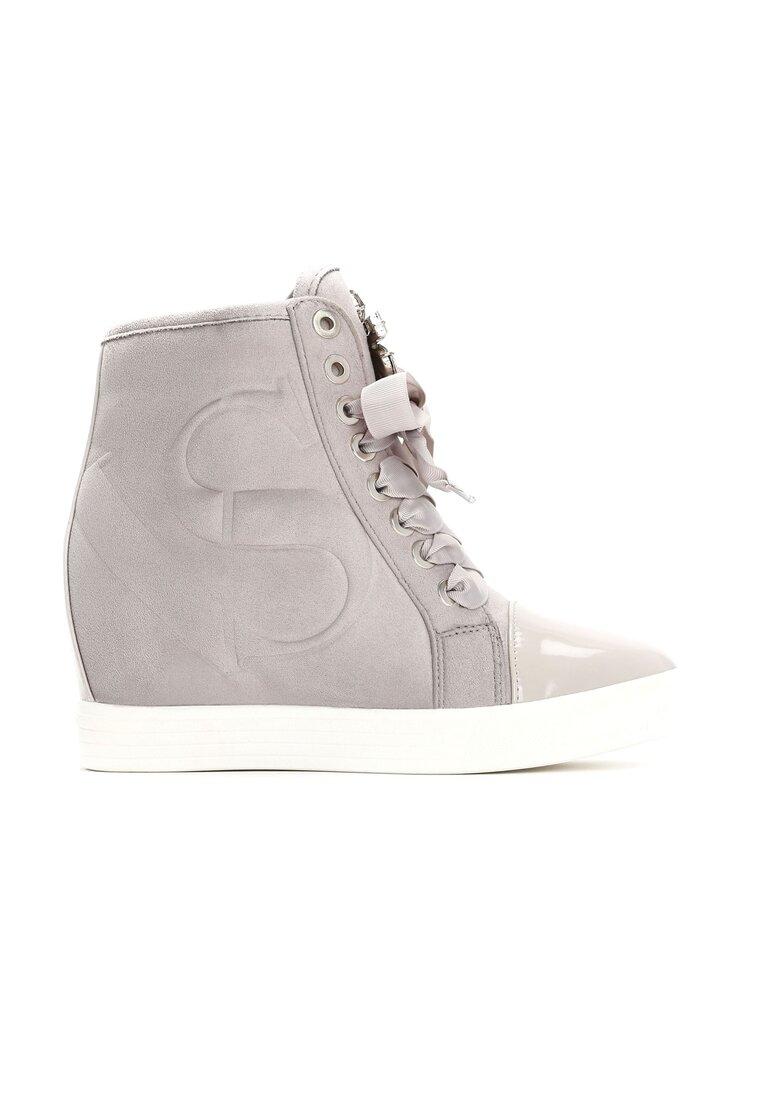 Szare Sneakersy Kassi