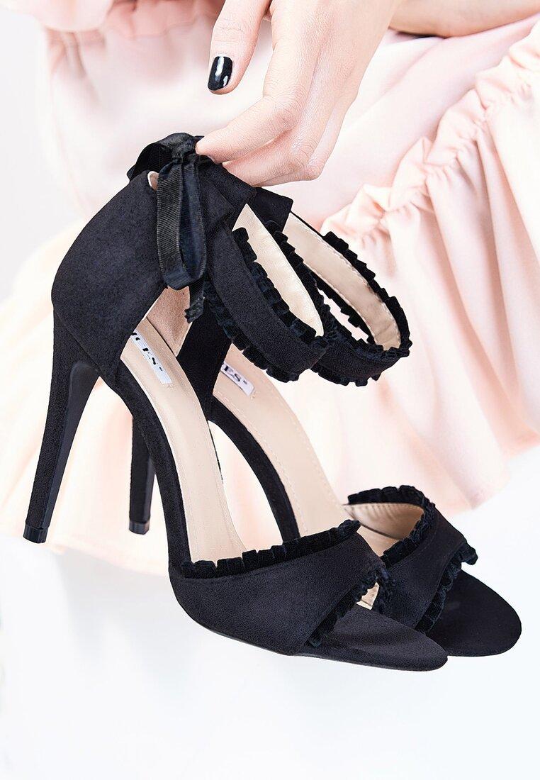 Czarne Sandały Heart Beat