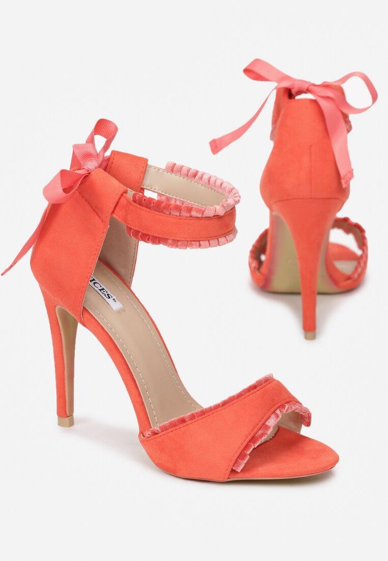 Pomarańczowe Sandały Heart Beat