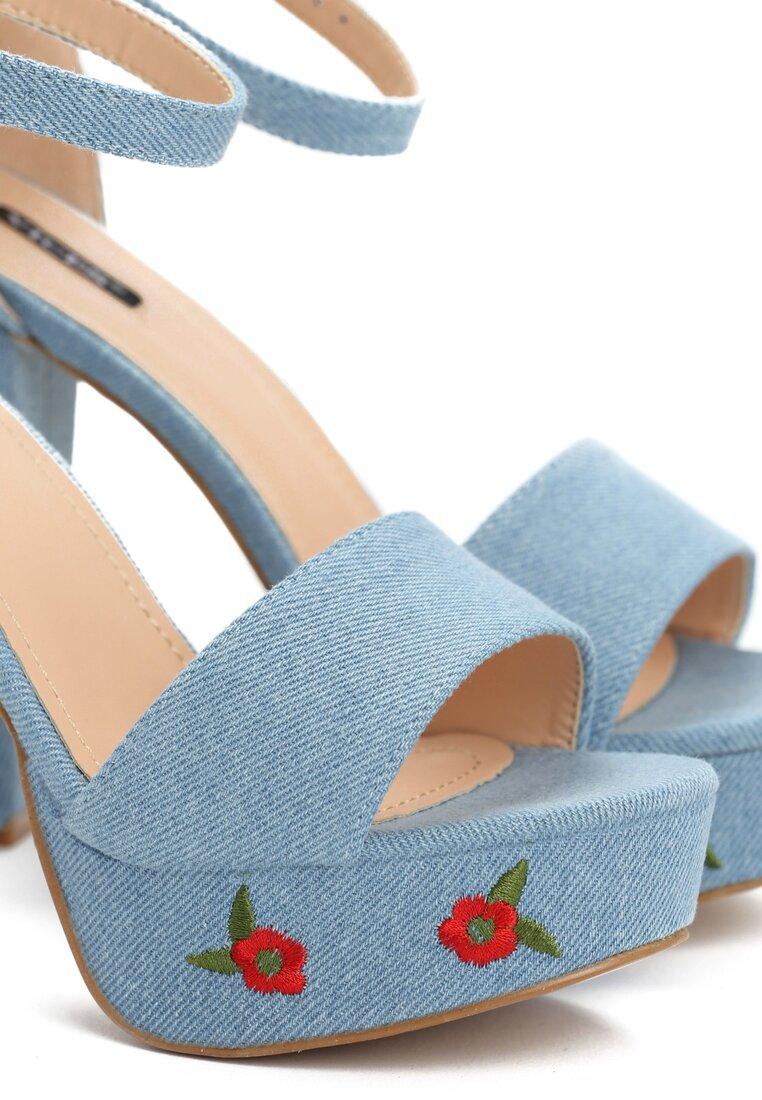 Niebieskie Sandały Weser