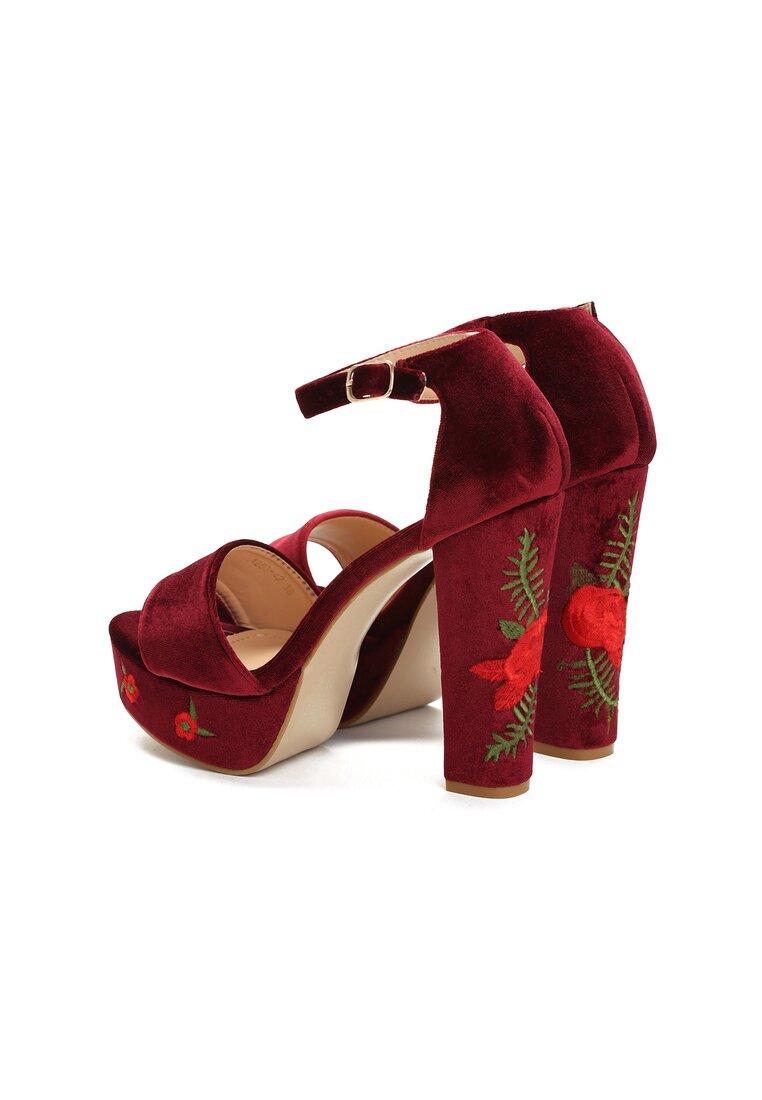 Bordowe Sandały Erisa