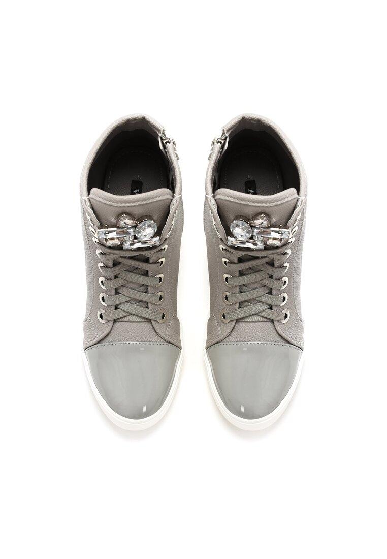 Szare Sneakersy Maroon