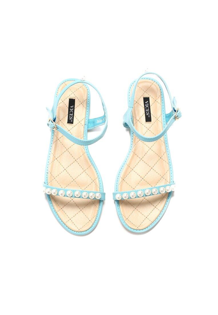 Miętowe Sandały Tender Now