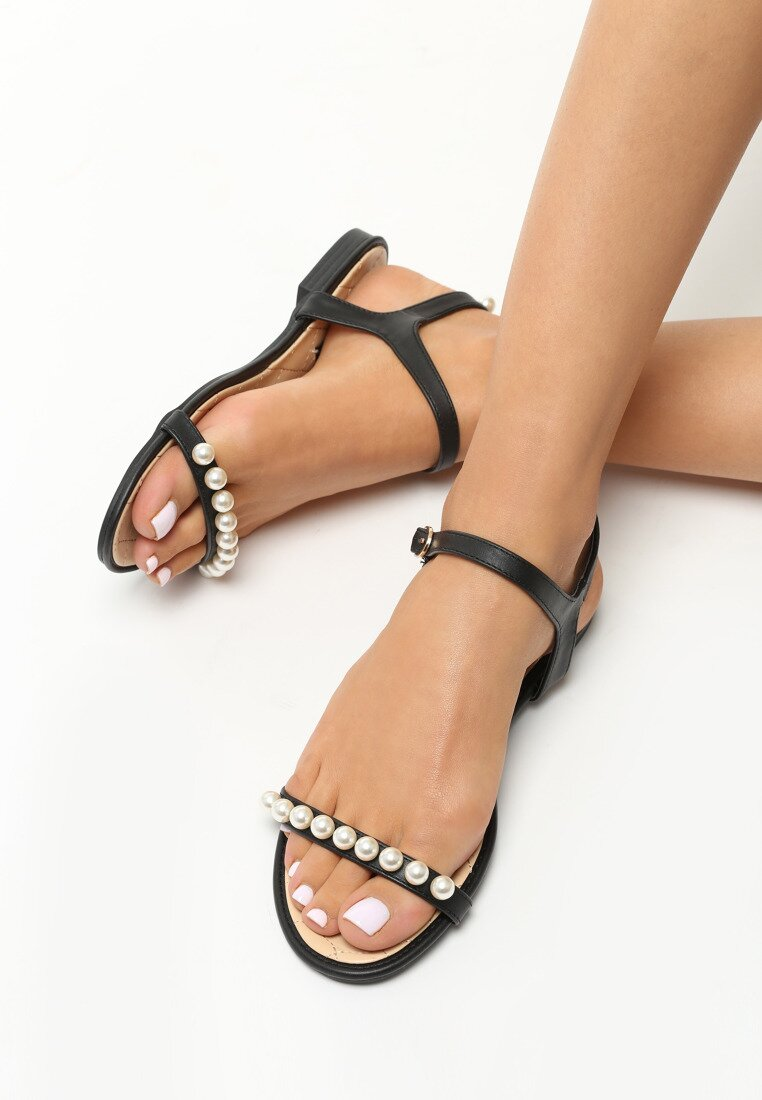 Czarne Sandały Tender Now