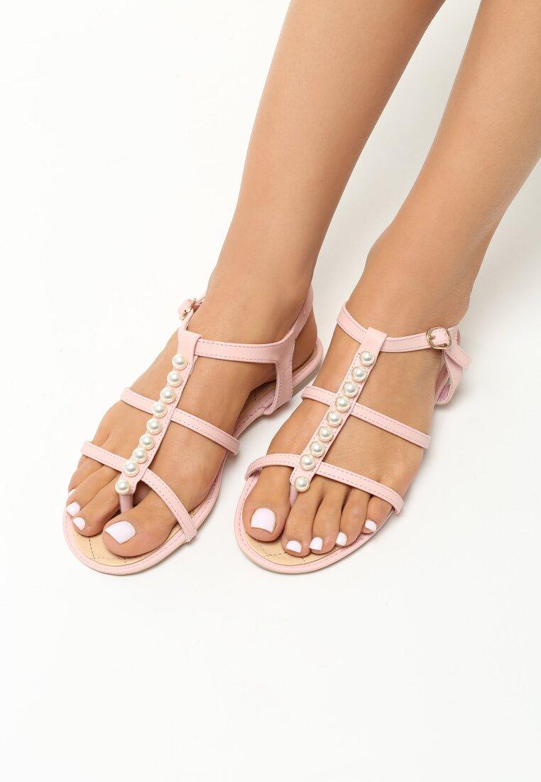 Różowe Sandały Astonished