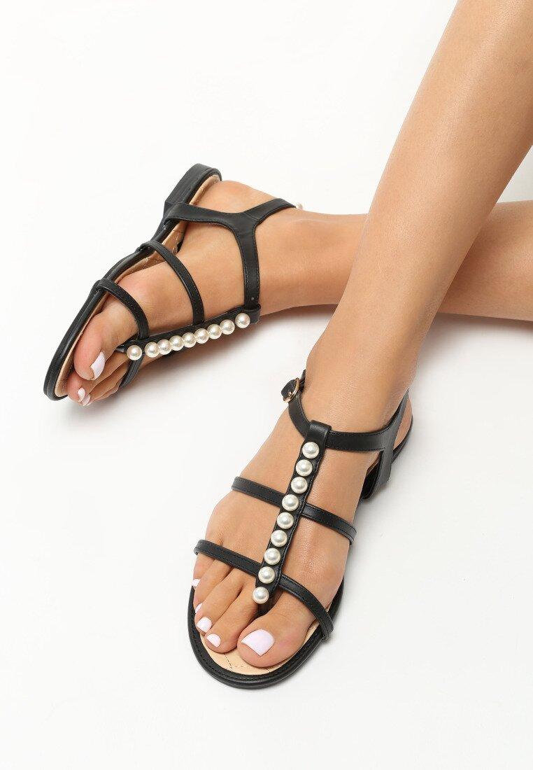 Czarne Sandały Astonished