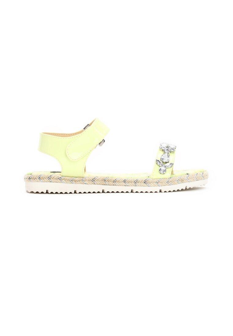 Limonkowe Sandały Petrichor