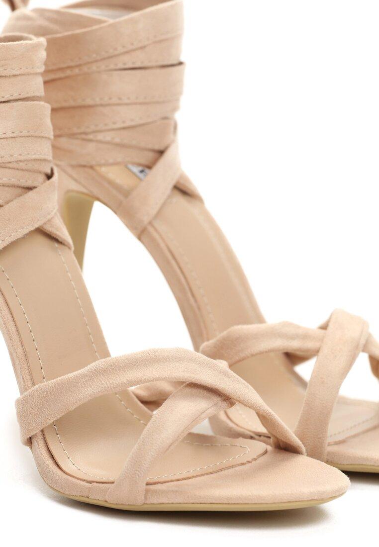 Beżowe Sandały Raspberry