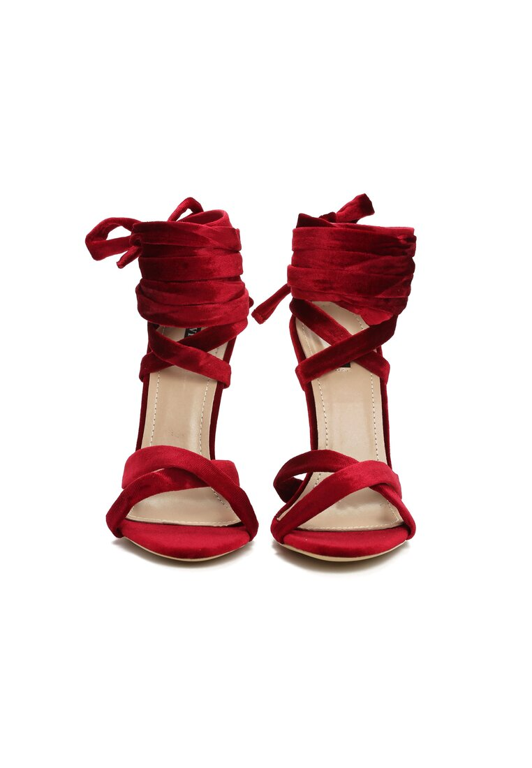 Bordowe Sandały Choosy