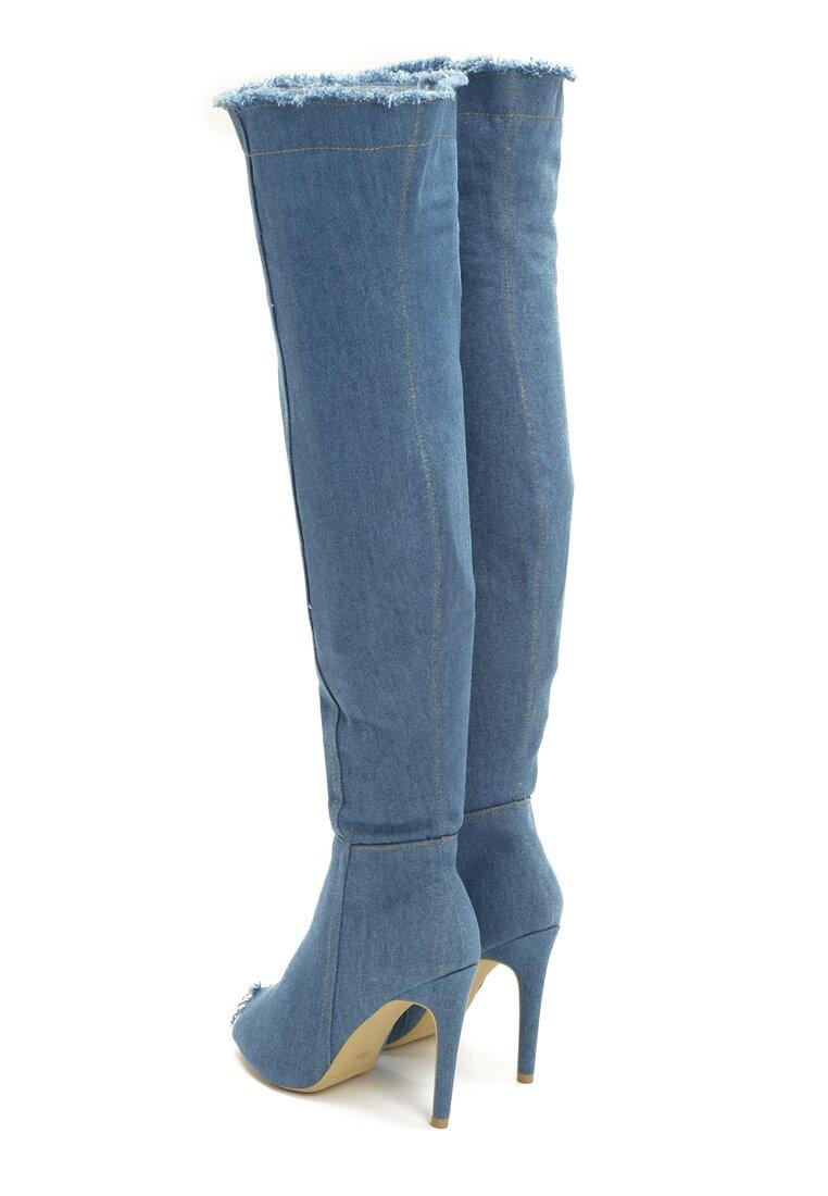 Niebieskie Kozaki Denim Style
