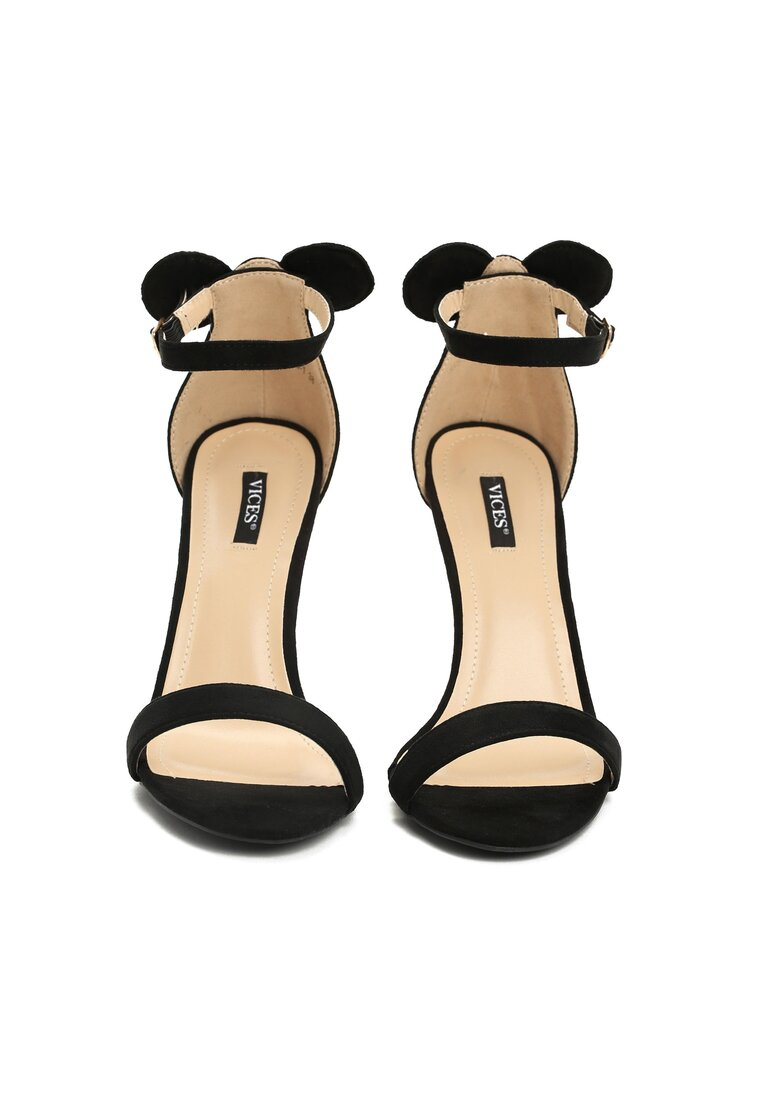 Czarne Sandały Crazy Mouse