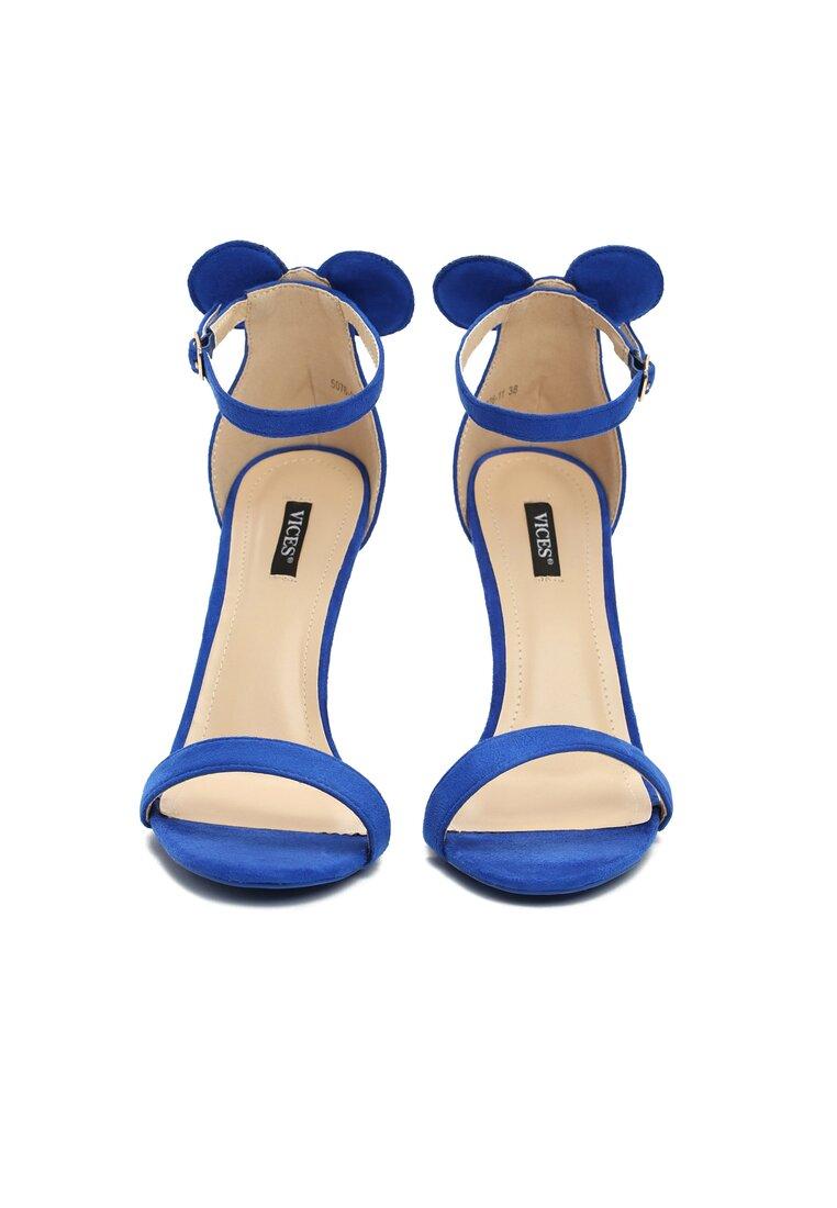 Niebieskie Sandały Cute Mouse