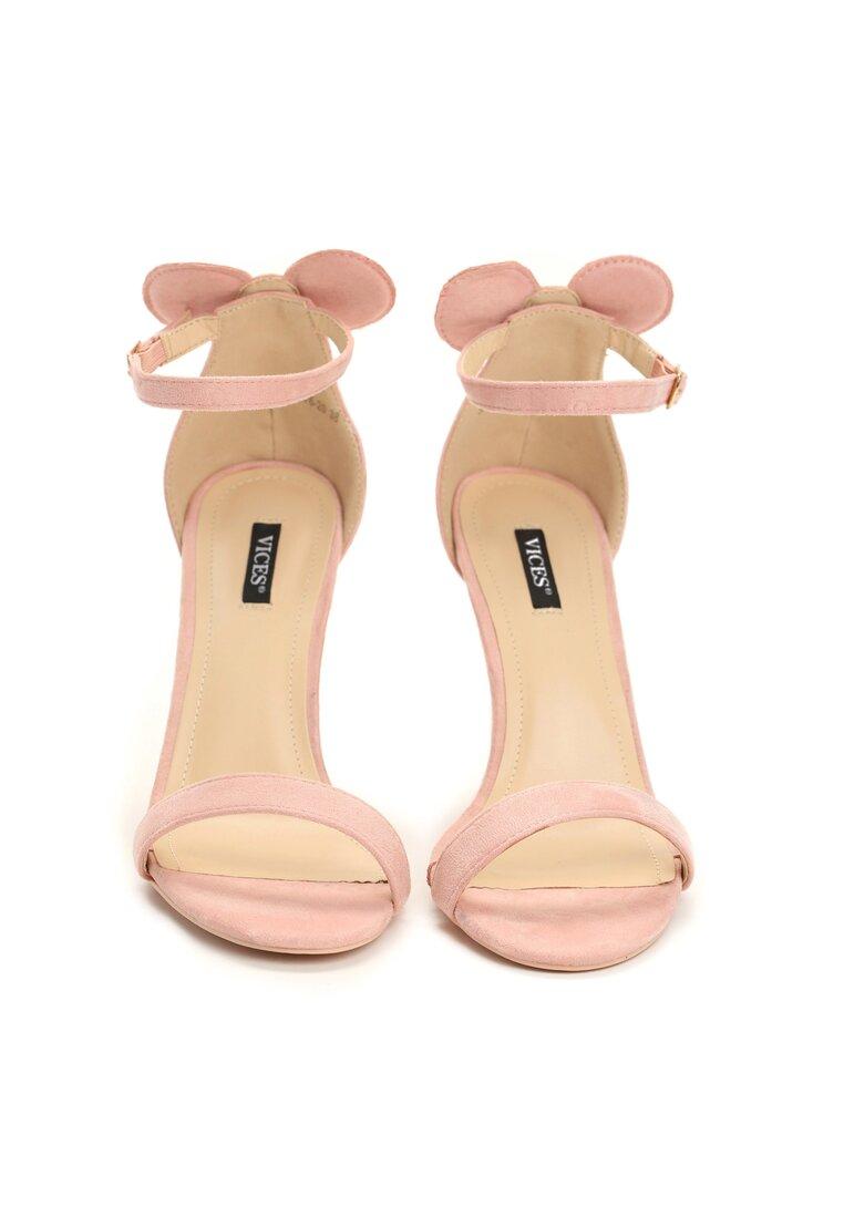 Różowe Sandały Cute Mouse