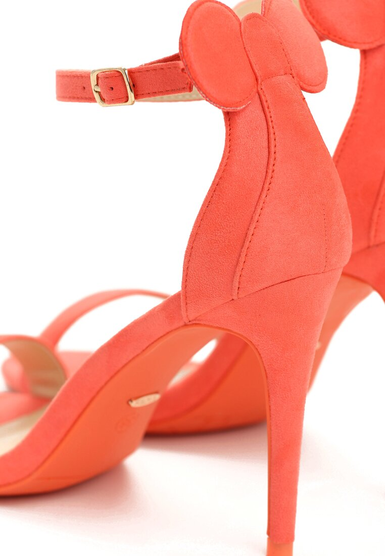 Pomarańczowe Sandały Cute Mouse