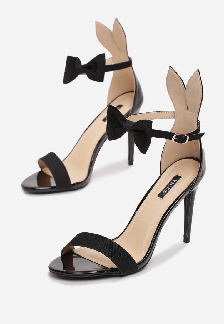 Czarne Sandały Rabbit