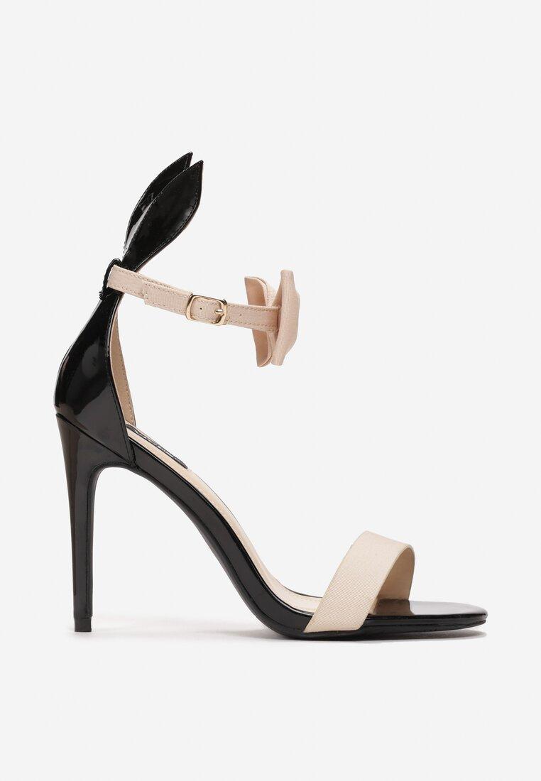Czarno-Beżowe Sandały Rabbit
