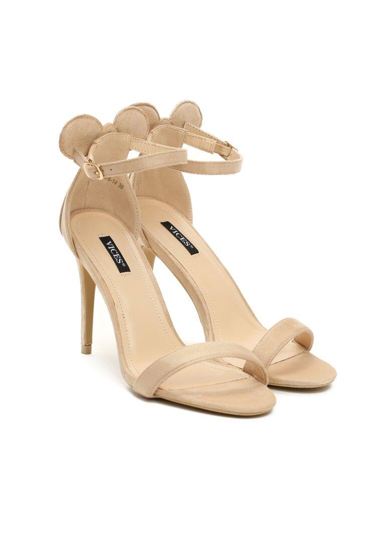 Beżowe Sandały Cute Mouse