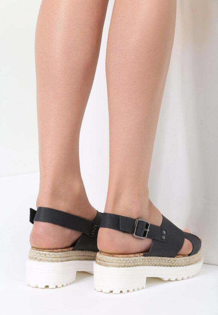 Czarne Sandały Main Burn