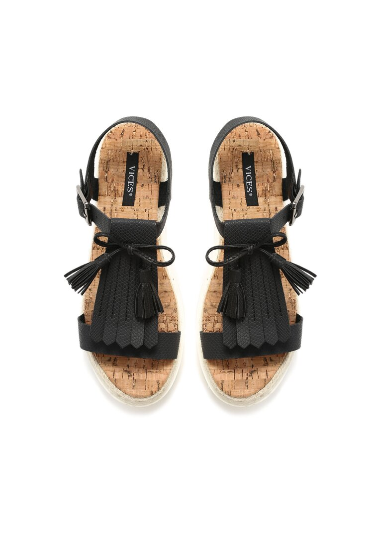 Czarne Sandały Safe And Sound