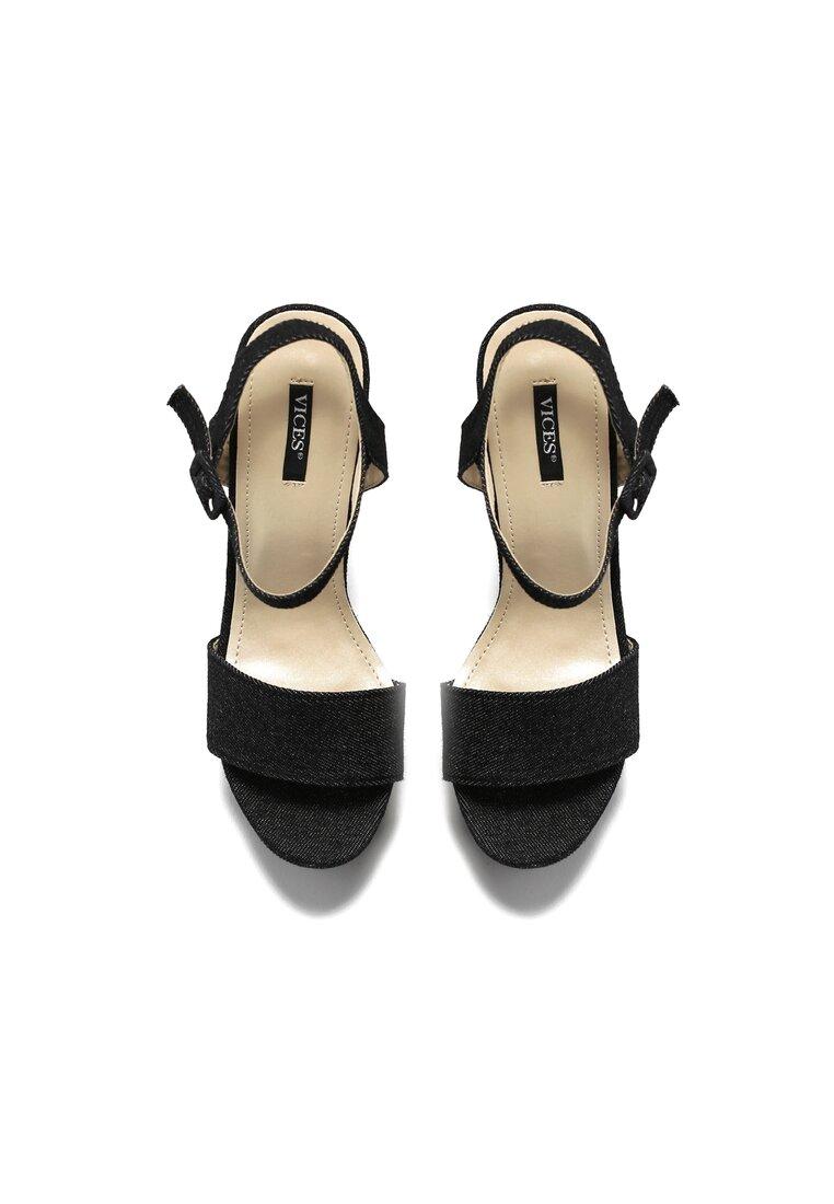 Czarne Sandały Independent
