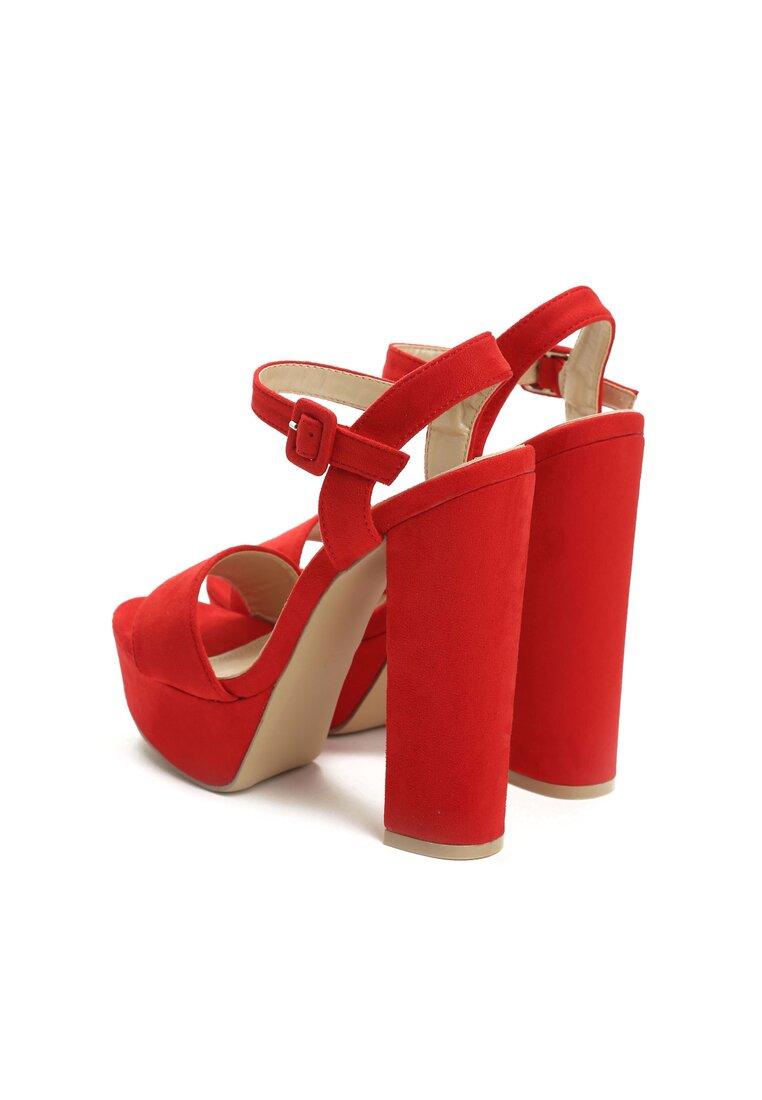 Czerwone Sandały Chic Heels