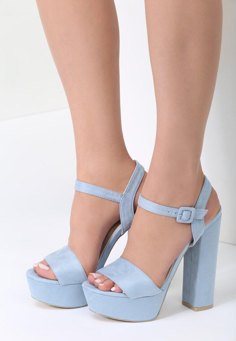 Niebieskie Sandały Chic Heels