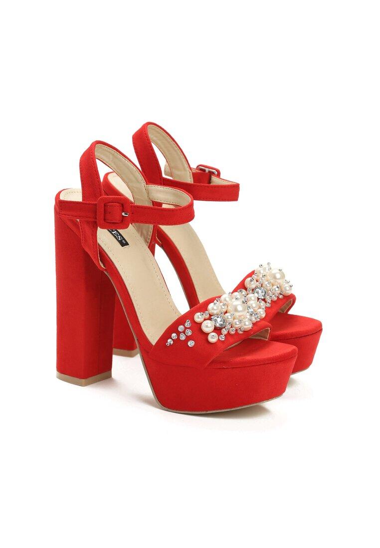 Czerwone Sandały Perfect Design