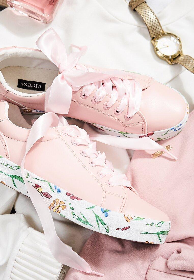 Różowe Trampki Lucky Flower