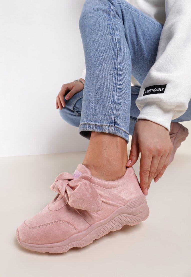 Różowe Buty Sportowe Faithful Idea