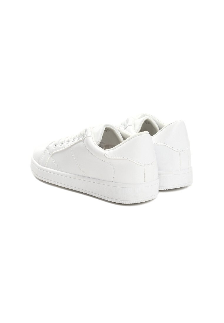 Białe Buty Sportowe Slipcover