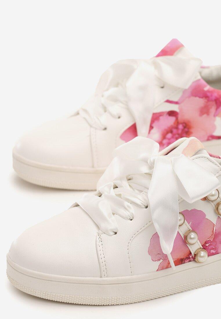Białe Buty Sportowe Lucky Burble