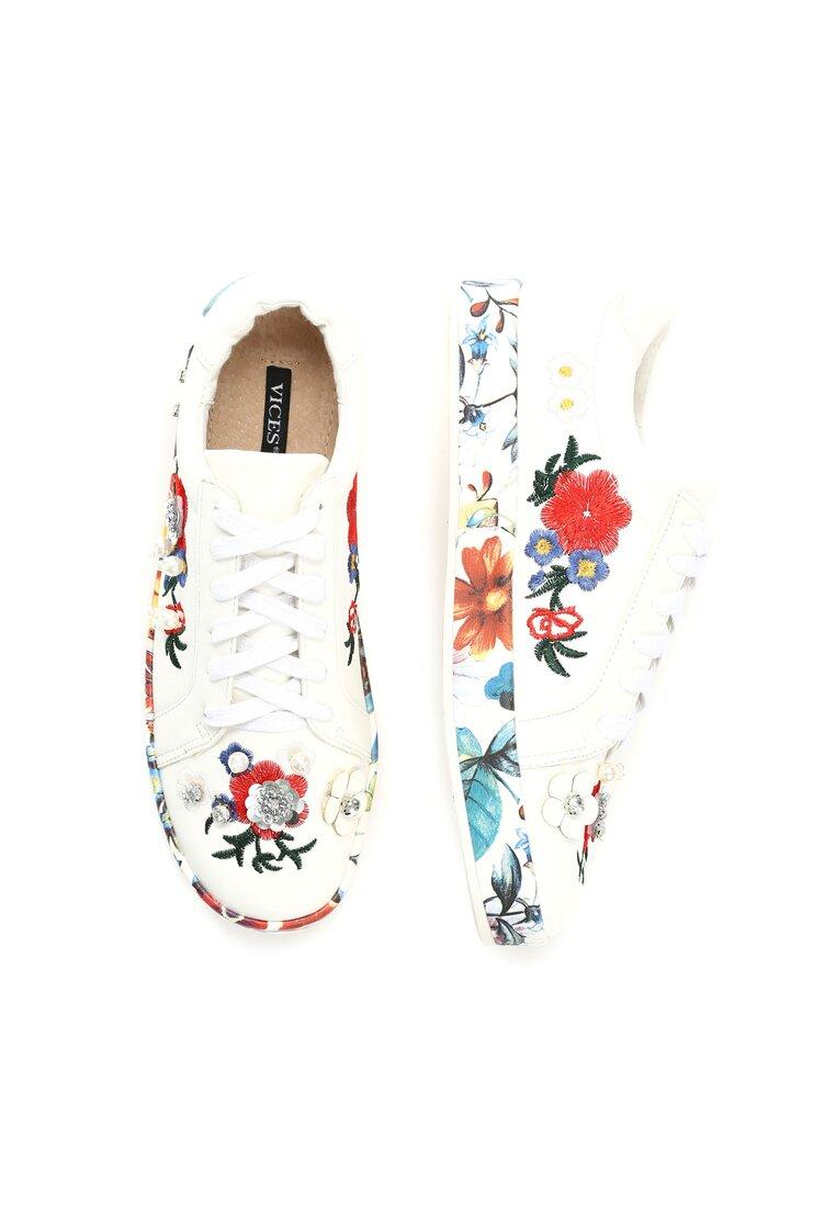 Białe Buty Sportowe Rose Garden
