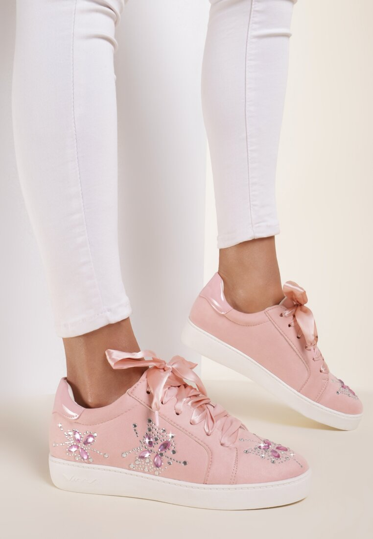 Różowe Buty Sportowe Turn To Left