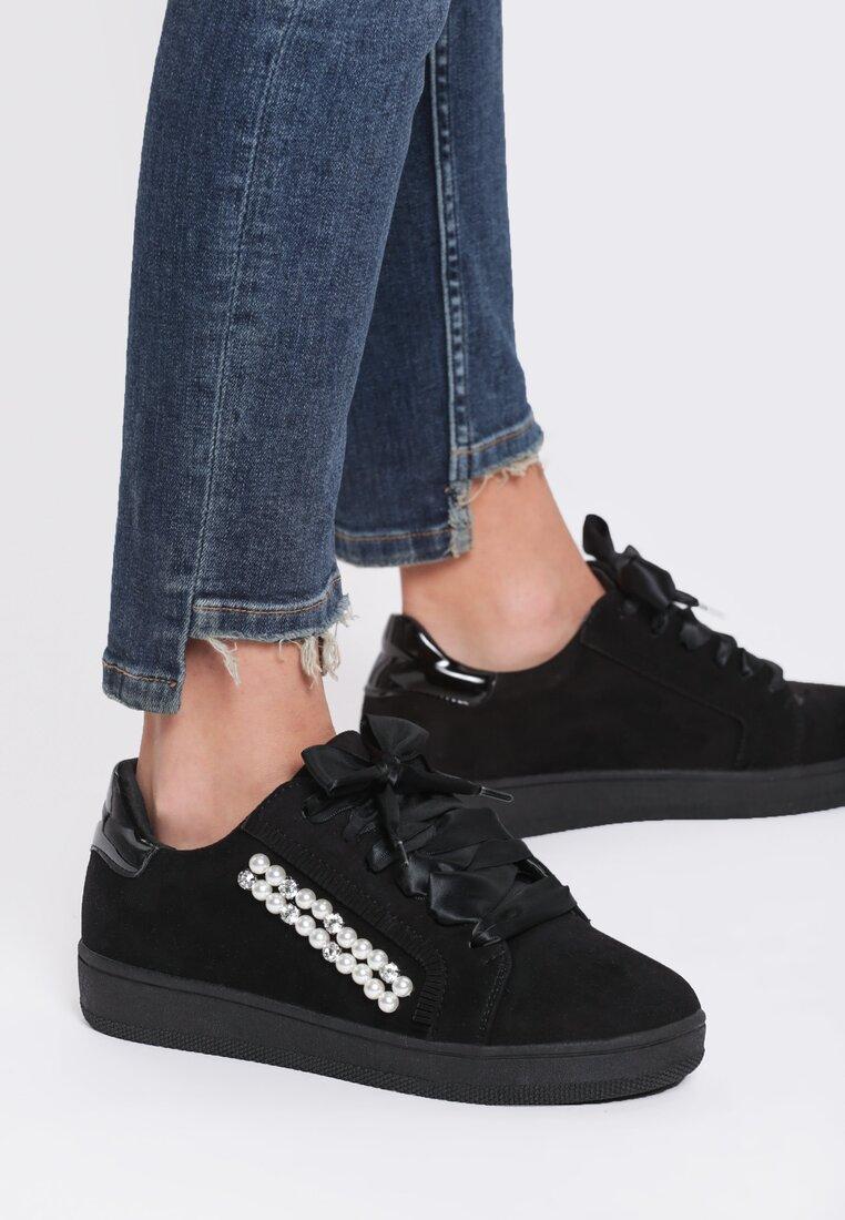 Czarne Buty Sportowe Margarett