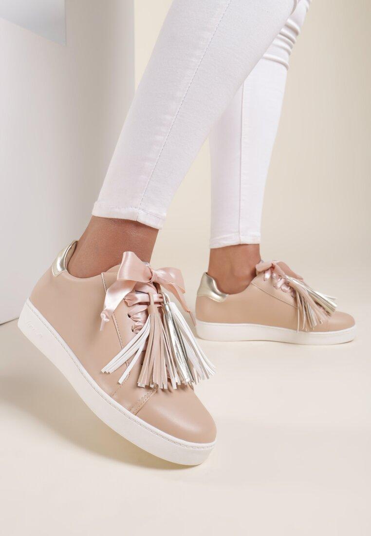 Beżowe Buty Sportowe Murmurous