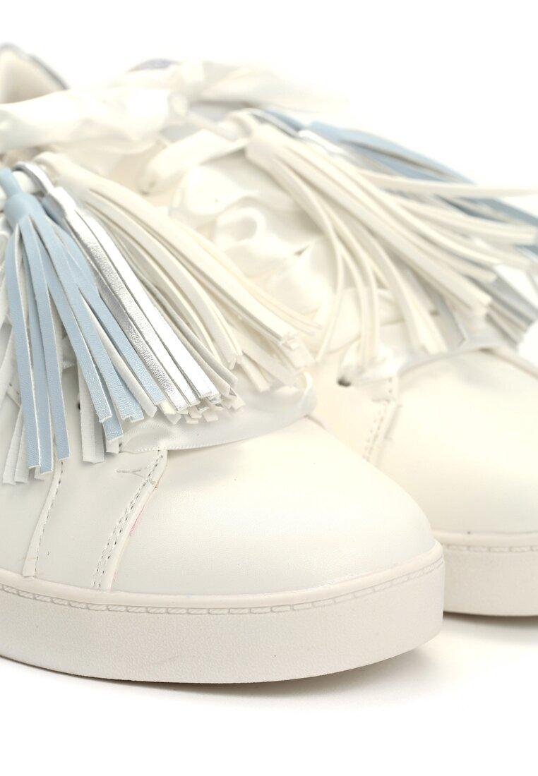 Biało-Srebrne Buty Sportowe Plaything