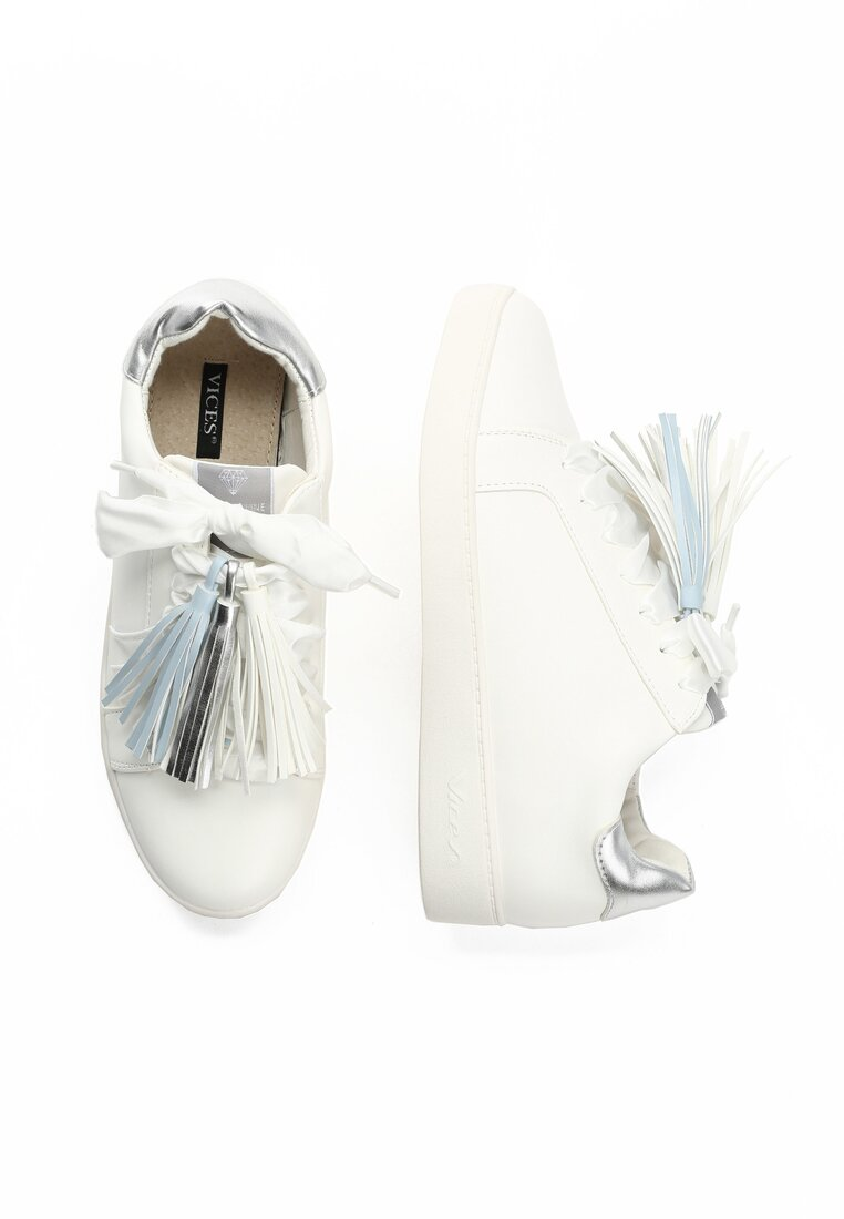 Biało-Srebrne Buty Sportowe Murmurous