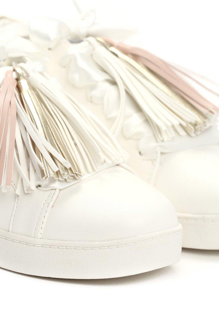 Biało-Złote Buty Sportowe Murmurous