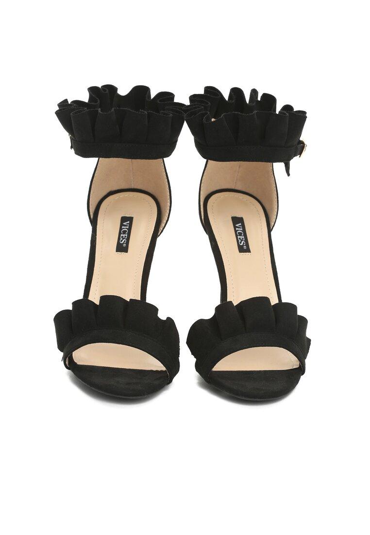 Czarne Sandały Amazing