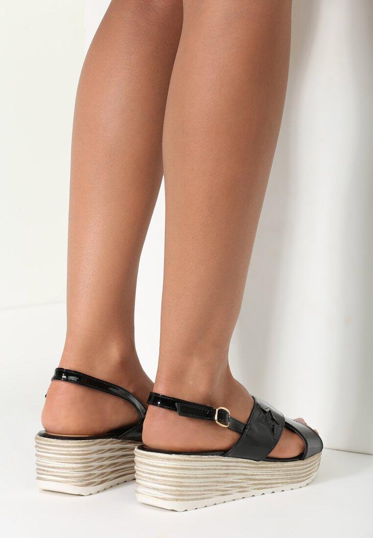 Czarne Sandały Flash
