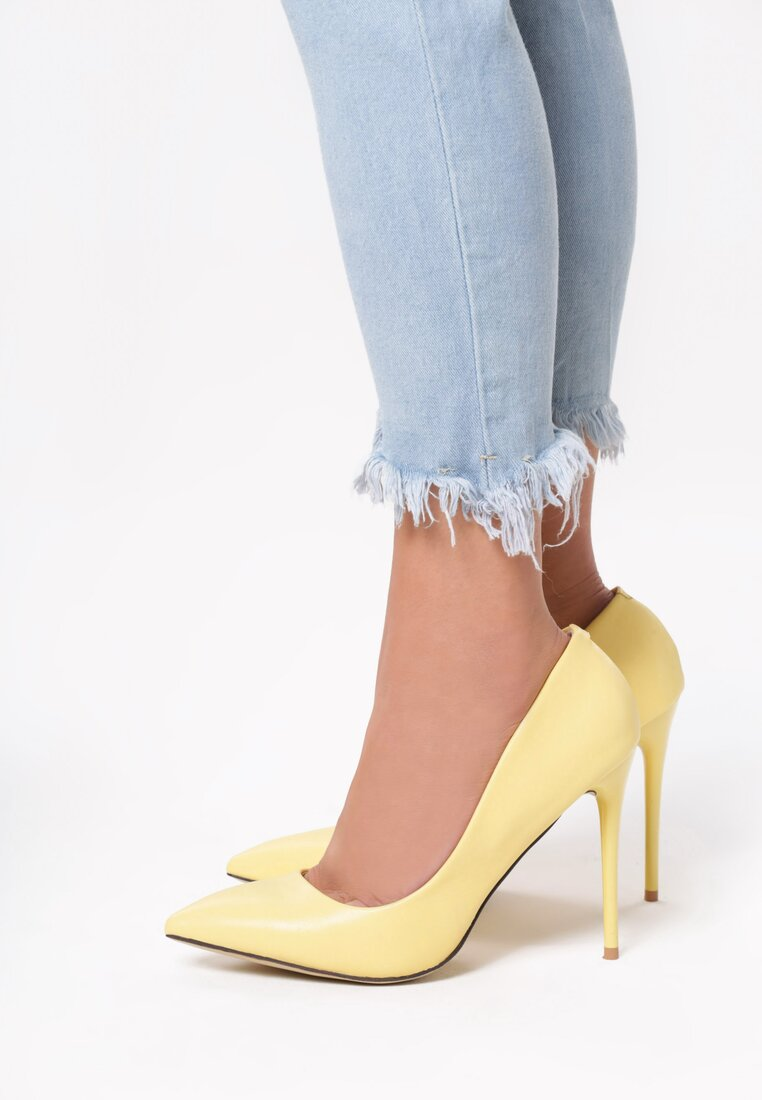 Żółte Szpilki Exquisite Lady