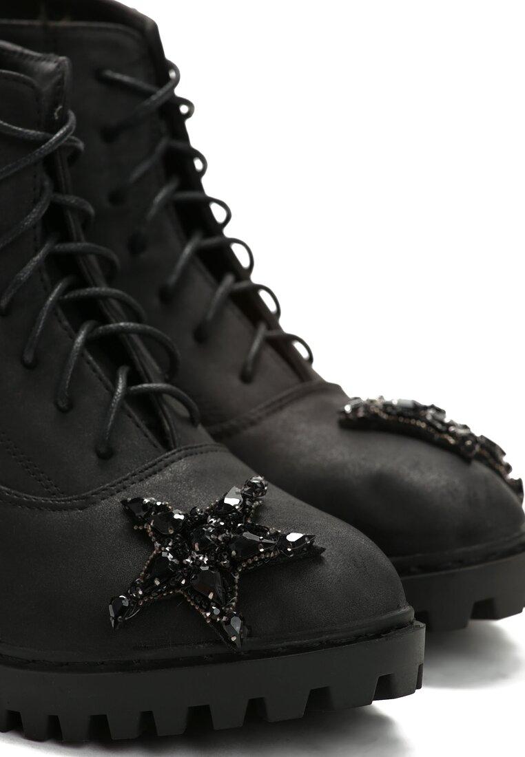 Czarne Botki Black Star