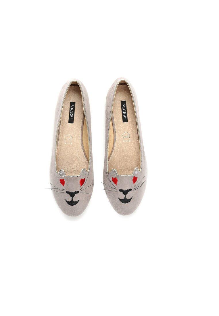 Szare Balerinki Lovely Kitty