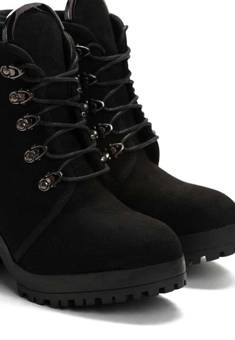 Czarne Zamszowe Botki Jim Shoes