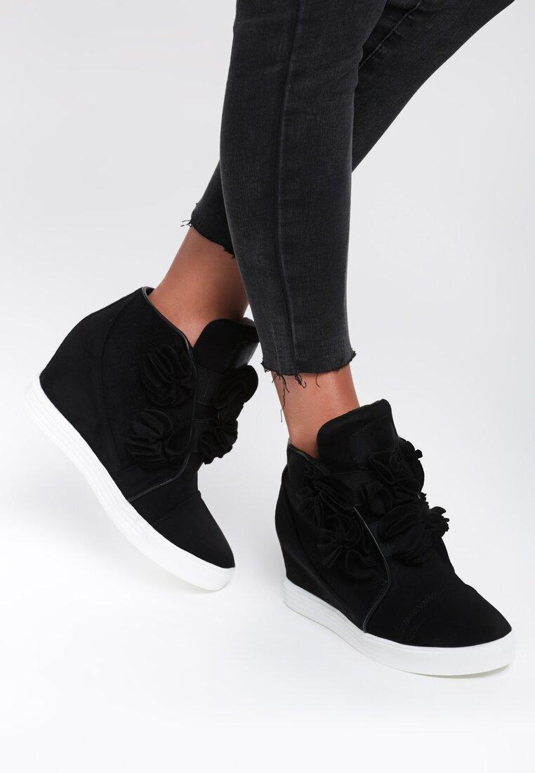 Czarne Sneakersy Yummy Plume