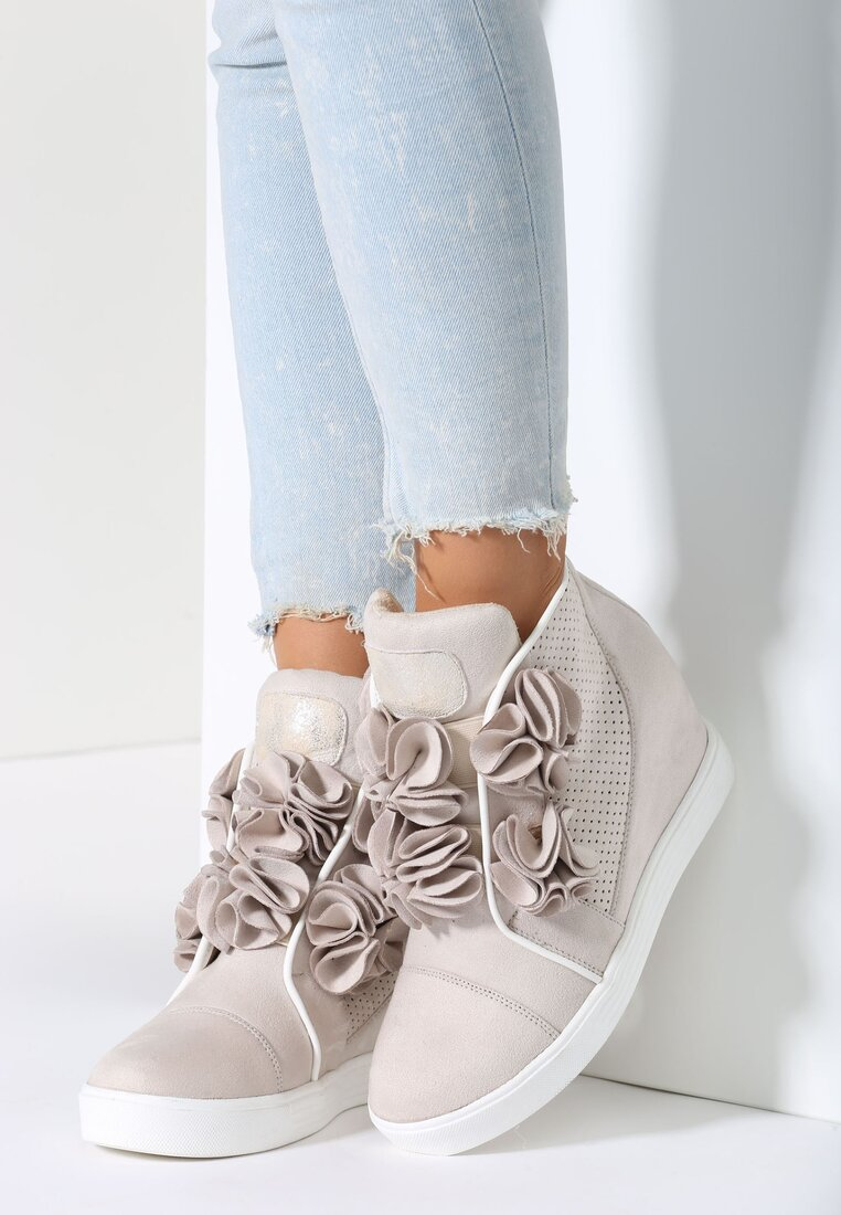 Beżowe Sneakersy Doodad