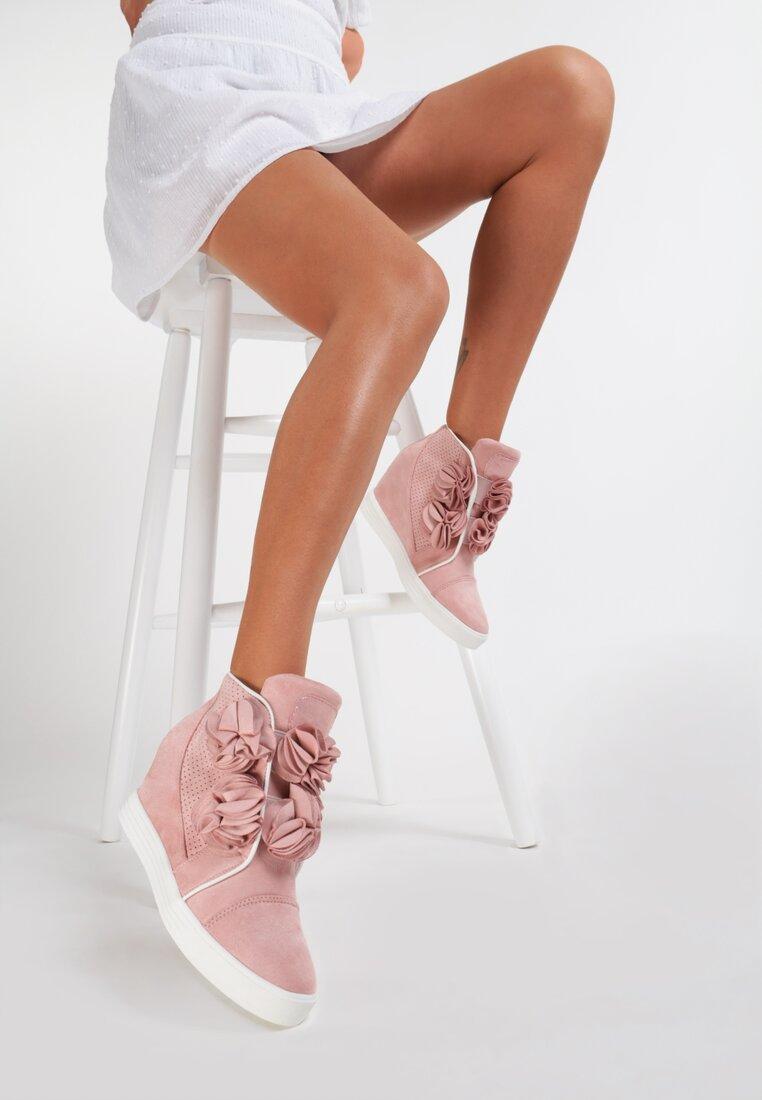 Różowe Sneakersy Yummy Plume