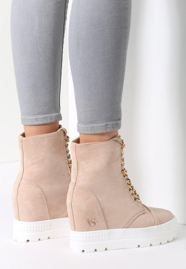 Beżowe Sneakersy Snow White