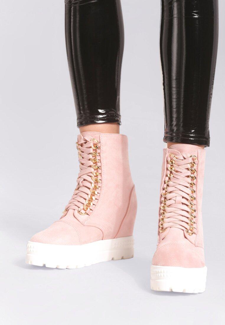 Różowe Sneakersy Snow On Fire