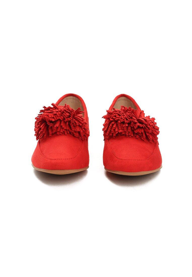 Czerwone Mokasyny Adorable Gumshoeing